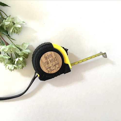 Personalised Tape Measure - 5 Meter Tape Measure - Grandad/ Dad/ Daddy Gift