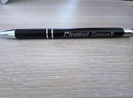 stylo gravé au laser