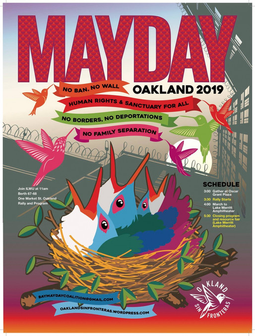Spoken Palabra CentroAmericana at May Day in Oakland