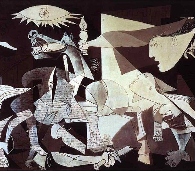 Mass media, such as the movie San Andreas, offers rehearsal and preparation for Final Judgment. The idea is similar to the one in the script, Marisol and a painting by Pablo Picasso, Guernica, to represent a destructive reality to us human. -Kim Eunhye