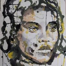 encre et pastel sur papier,60 x80 cm