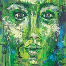 huile sur toile 50 x60 cm