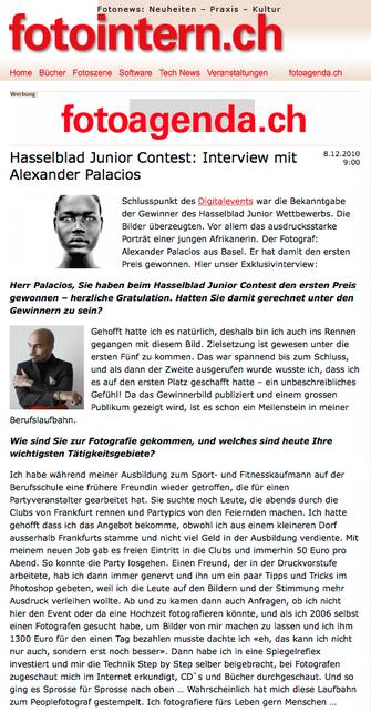 FOTOINTERN über Alexander Palacios