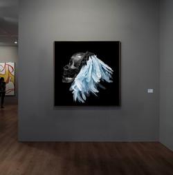 Flying Skull blue