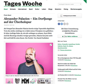 TAGESWOCHE BASEL 16 | 6 | 2015 über Alexander Palacios