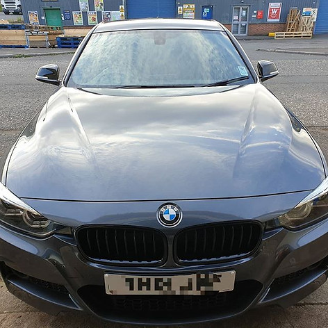 One from this week. BMW 320i after recei