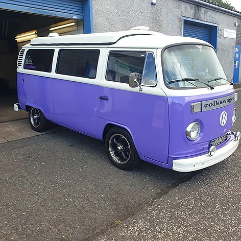 76 reconditioned VW Campervan after it r
