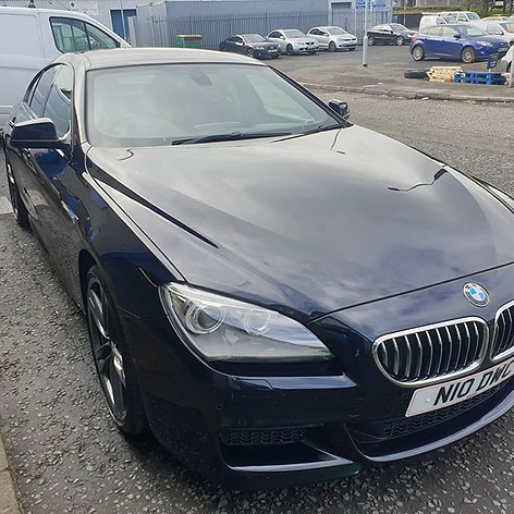 BMW 640d carbon black in last week for m