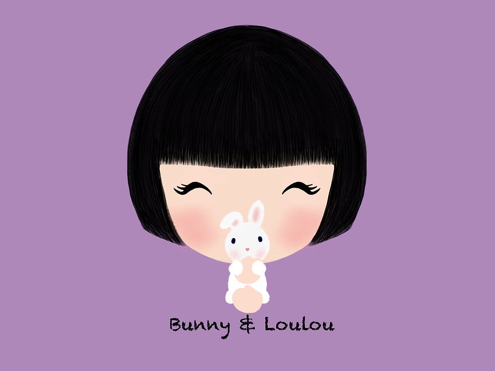 "Loulou picked the rabbit carefully and blew it a kiss. She said, ""from this day forward, I will call you 'Bunny',"" as she giggled with delightful bliss."