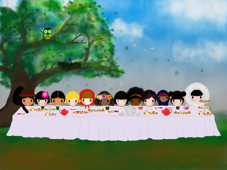 A TEA PARTY TO LAUNCH BUNNYLOU'S NEW LOOK IN THE WWW!