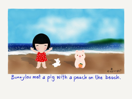 The Pig with a Peach on the Beach