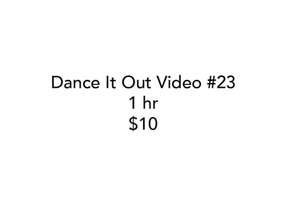 Dance It Out Online Video Class #23 (Recorded live)
