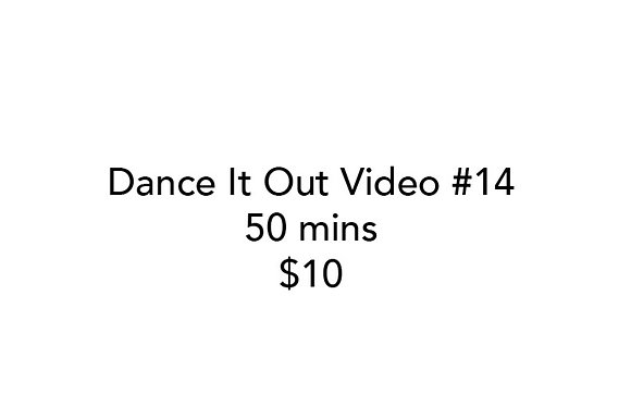 Dance It Out Online Video Class #14