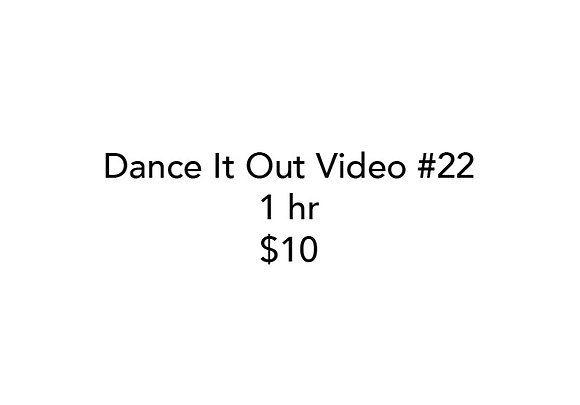 Dance It Out Online Video Class #22 (Recorded live)