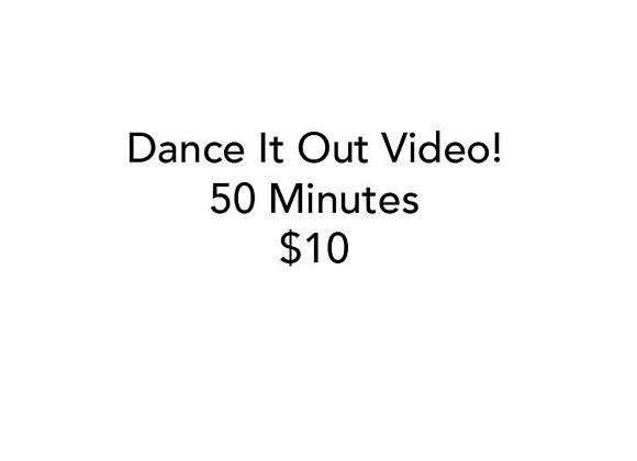 Dance It Out Online Video Class #1