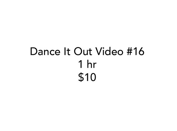Dance It Out Online Video Class #16 (Recorded while Live on FB)