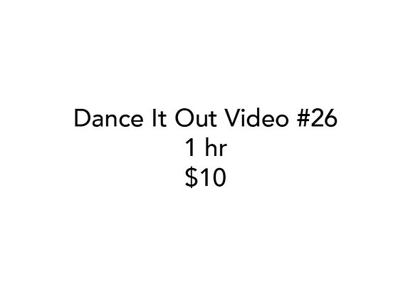 Dance It Out Online Video Class #26 (Recorded live)