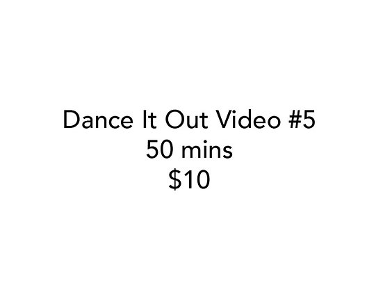 Dance It Out Online Video Class #5 Recorded while Live on FB
