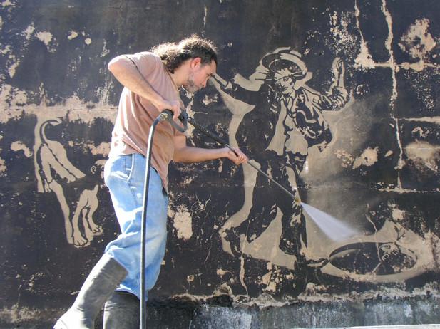 Trelles working in El loco/ Photo by José Fonseca
