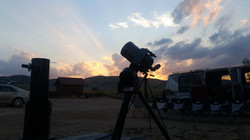 sunset at the site