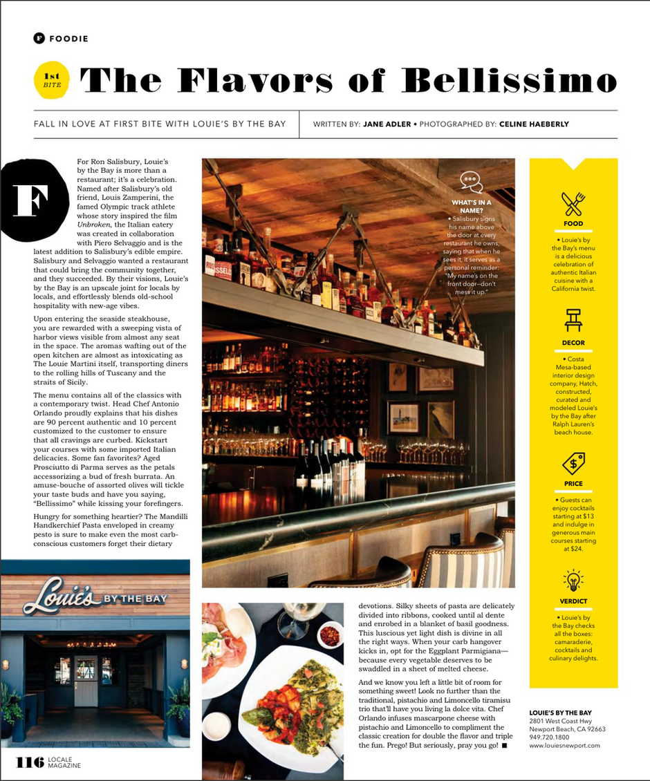 The Flavors of Bellissimo