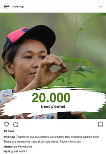 plant trees with the yook online shop extension