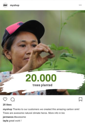 trees planted - green marketing communication