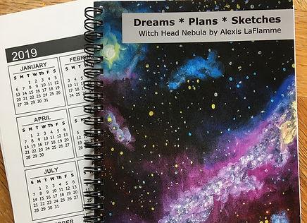 Witch head journals with calendar.jpg