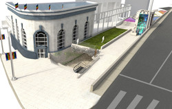 Chapter XXX Harvey Milk Plaza corner perspective