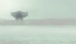 Chapter 01a Helsinki Guggenheim rendering foggy