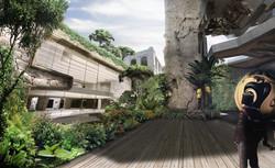 Peru sunken courtyard