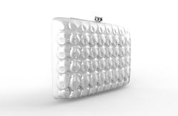 020_Wallet Rectangular like Compact Pink Chrome interior