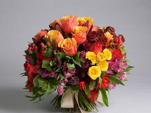 Bouquet en colores fuertes.