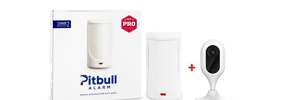 Беспроводная GSM охранная система Pitbull Alarm PRO + Wi-Fi камера Dahua C12P