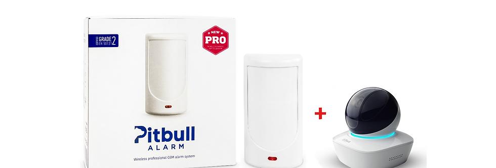 Беспроводная GSM охранная система Pitbull Alarm PRO + Wi-Fi камера Dahua A15P