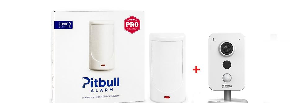 Беспроводная GSM охранная система Pitbull Alarm PRO + Wi-Fi камера Dahua K15P