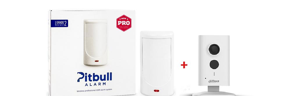 Беспроводная GSM охранная система Pitbull Alarm PRO + Wi-Fi камера Dahua С15P
