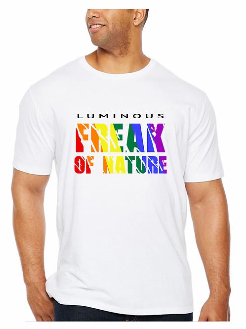 FREAK OF NATURE - (PRIDE) SINGLE TEE WHITE