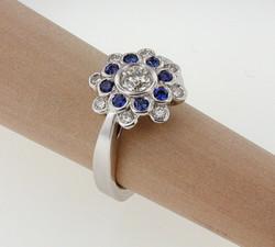 Saph & Diamond bezel ring