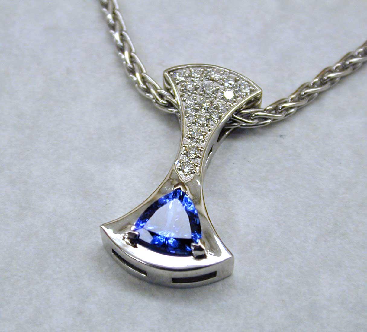 Tanzanite Diamond Pave pendant