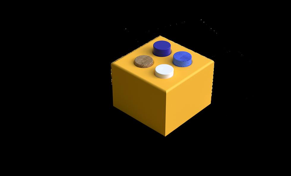 yellow cube 3D