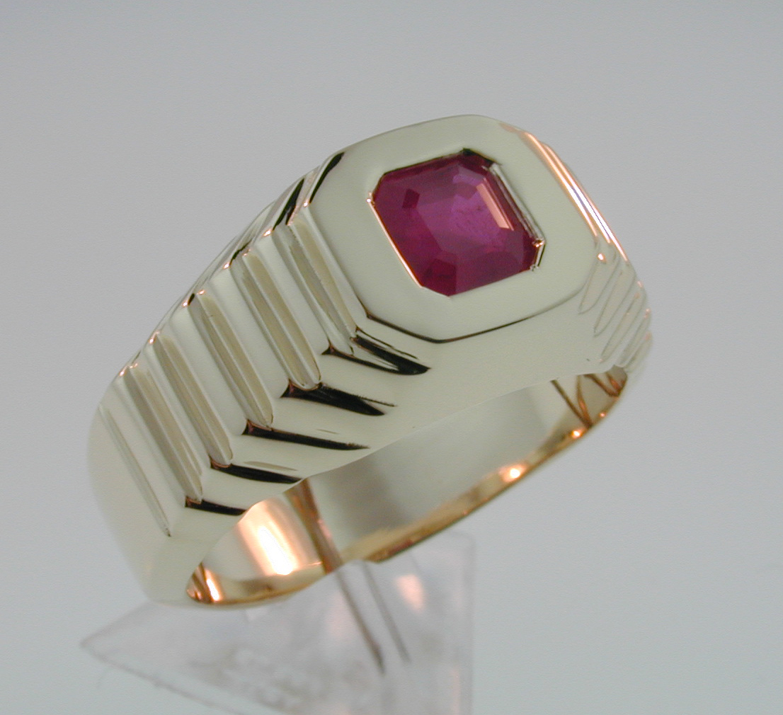 Gents Ruby Ring