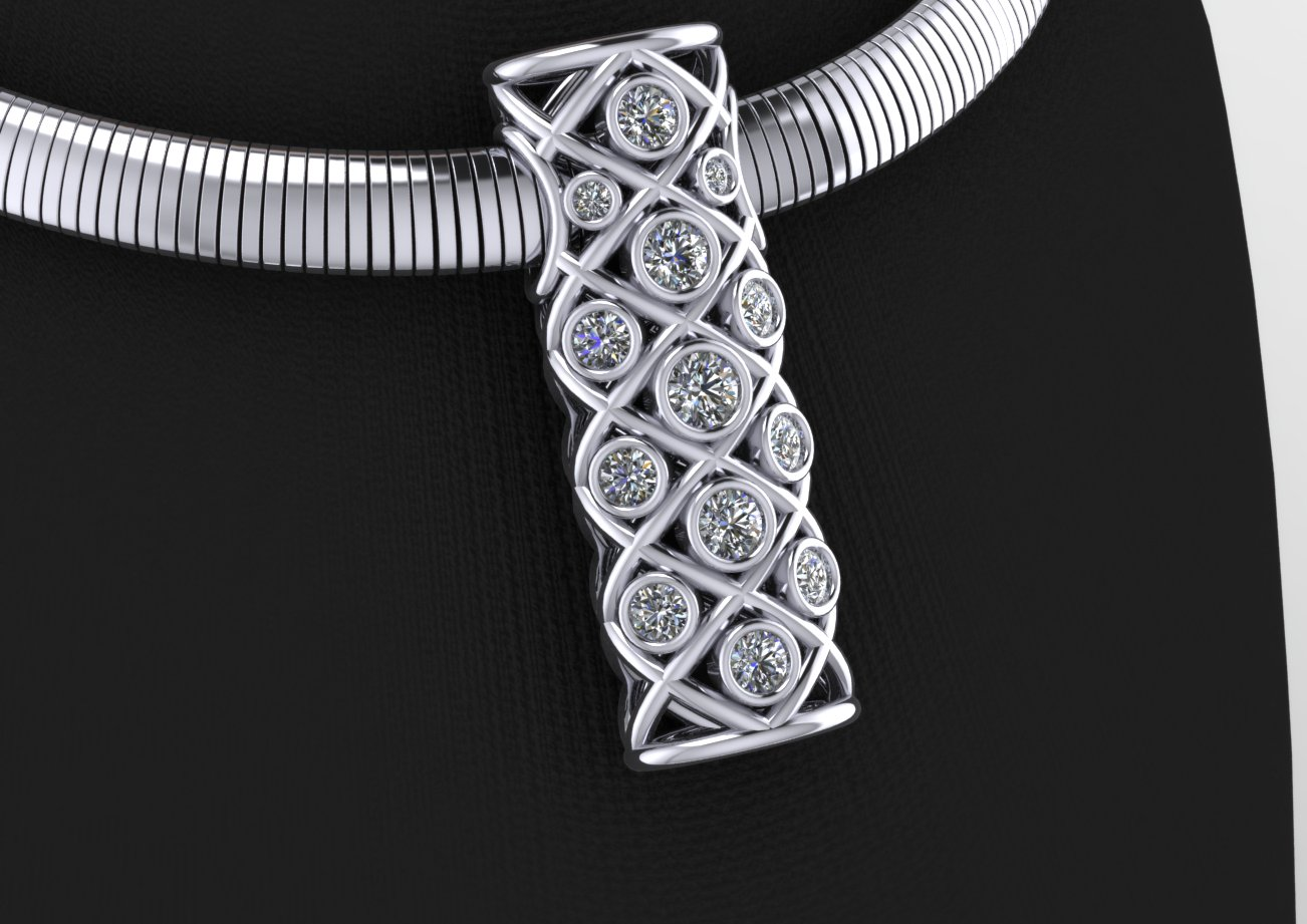 Lattice Tower Pendant
