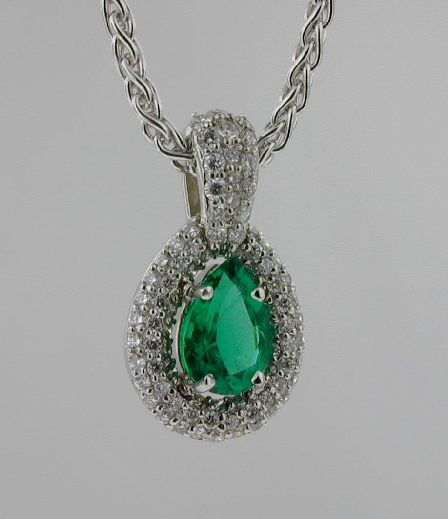 Emerald Pave pendant
