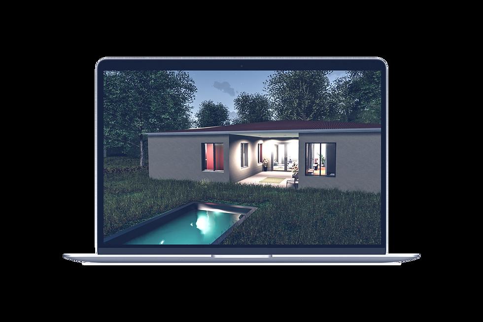 Maison image de synthèse 3D immobillier mac