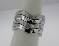 Wave Stack Rings