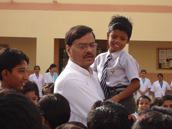 PK Siddharth Addressing children.jpg