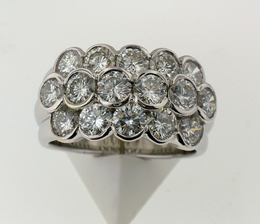 4 ct tw Semi Bezel Ring