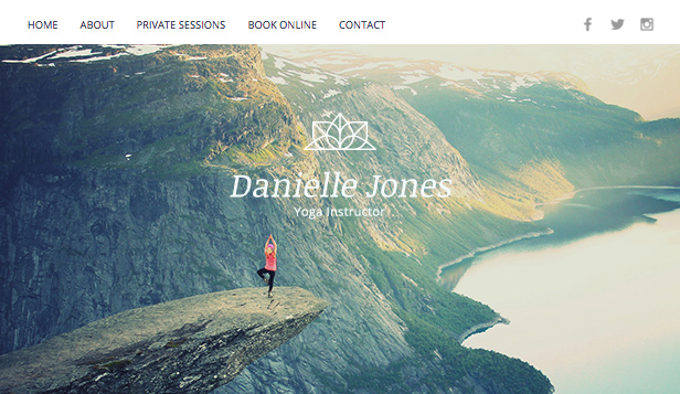 Wellness website templates – Yoga Instructor