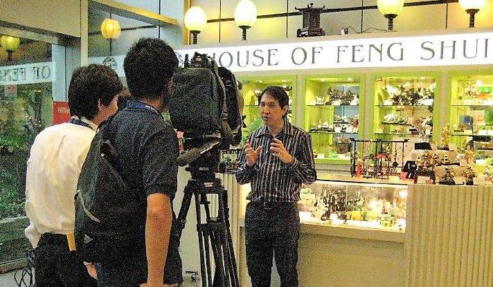 Filming for Nippon TV Japan